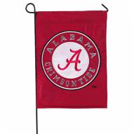 Alabama Crimson Tide Double Sided Applique Garden Flag