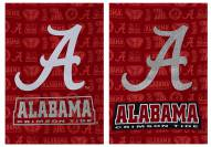 Alabama Crimson Tide Double Sided Glitter Garden Flag