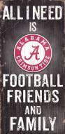 Alabama Crimson Tide Football, Friends & Family Wood Sign