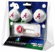 Alabama Crimson Tide Golf Ball Gift Pack with Cap Tool