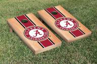 Alabama Crimson Tide Hardcourt Stripe Cornhole Game Set