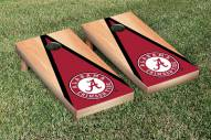 Alabama Crimson Tide Hardcourt Triangle Cornhole Game Set