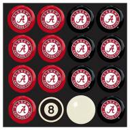 Alabama Crimson Tide Billiard Balls - Full Set