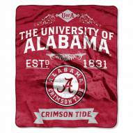 Alabama Crimson Tide Label Raschel Throw Blanket