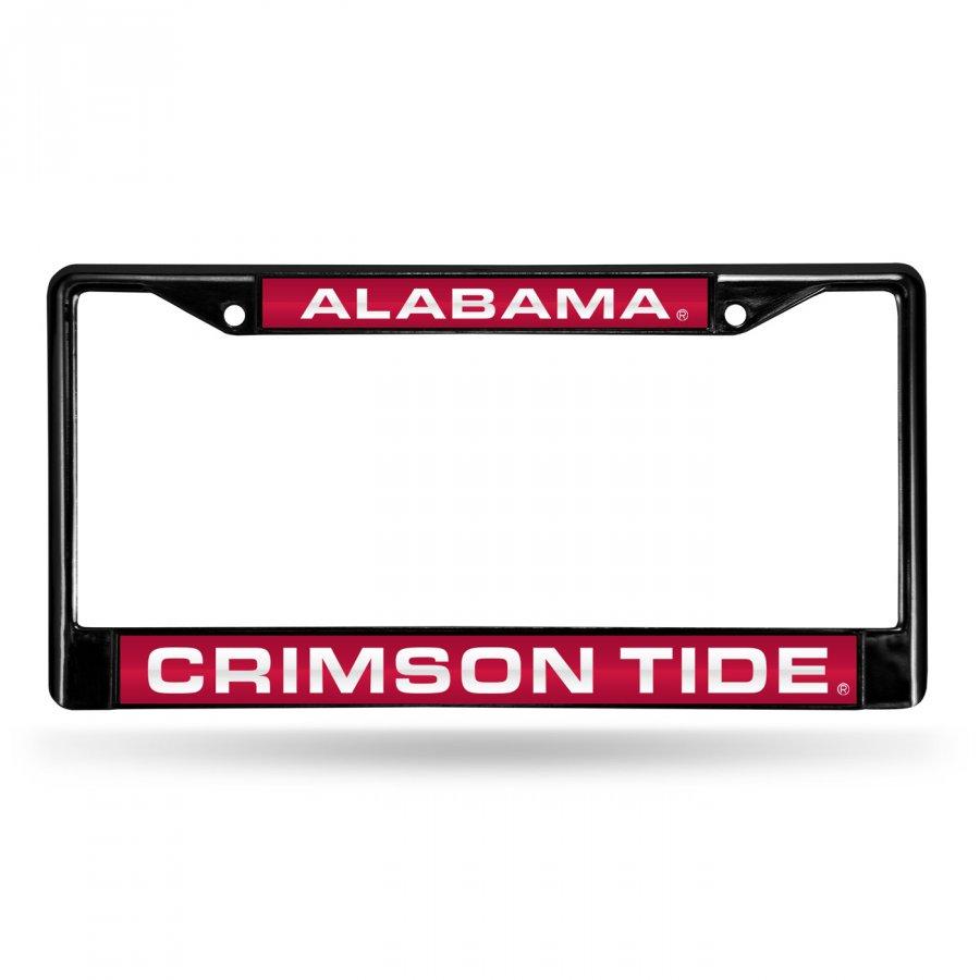 Alabama Crimson Tide Laser Black License Plate Frame
