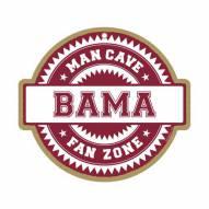 Alabama Crimson Tide Man Cave Fan Zone Wood Sign