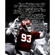 "Alabama Crimson Tide Marty Lyons Close Up Signed 16"" x 20"" Photo"