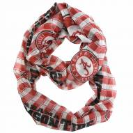 Alabama Crimson Tide Plaid Sheer Infinity Scarf