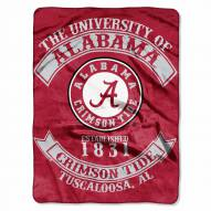 Alabama Crimson Tide Rebel Raschel Throw Blanket