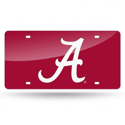 Alabama Crimson Tide Red Laser Cut License Plate