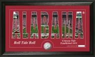 Alabama Crimson Tide Silhouette Minted Coin Panoramic Photo Mint
