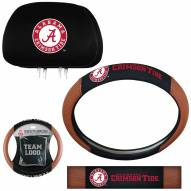 Alabama Crimson Tide Steering Wheel & Headrest Cover Set