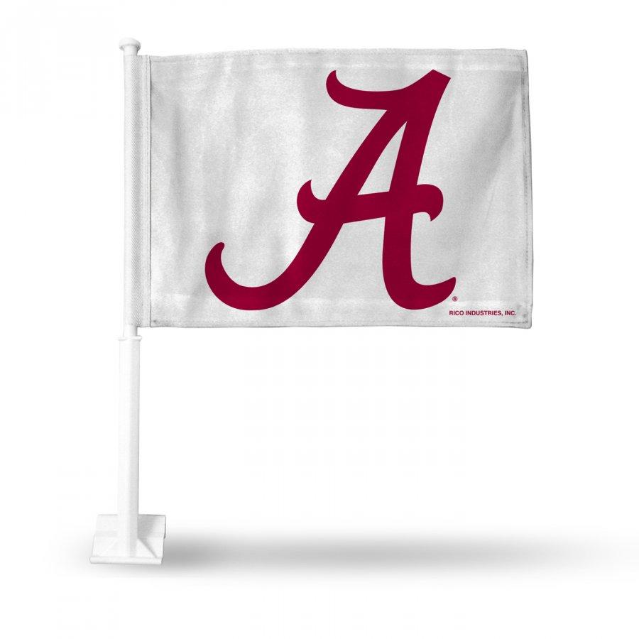 Alabama Crimson Tide White Car Flag