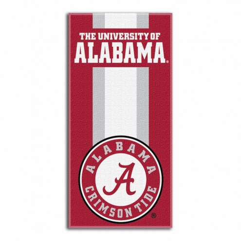 Alabama Crimson Tide Zone Read Beach Towel
