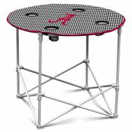 Alabama Crimson Tide Houndstooth Round Folding Table