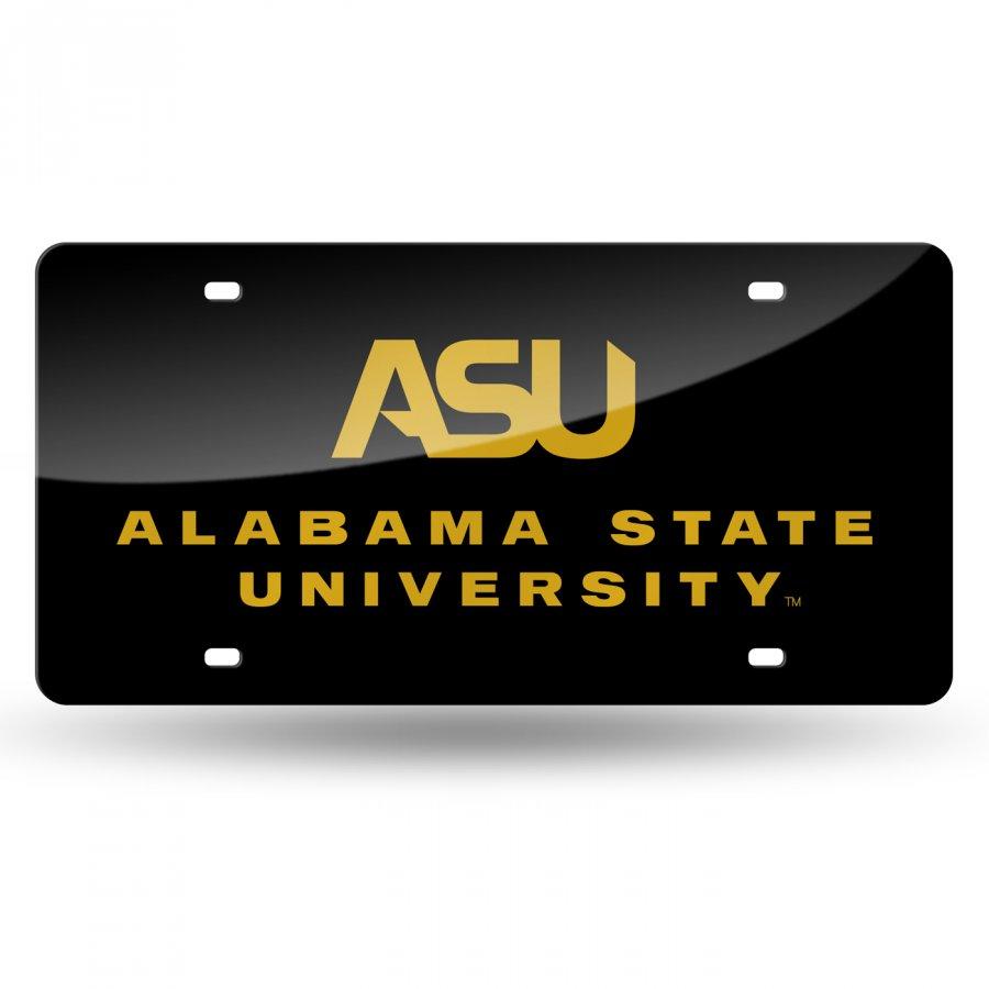 Alabama State Hornets Laser Cut License Plate
