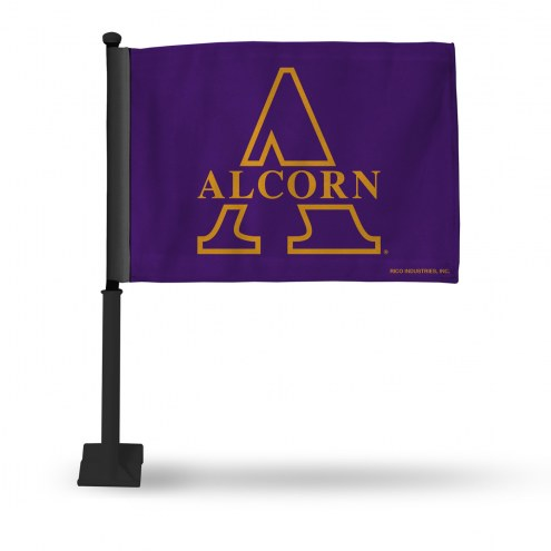 Alcorn State Braves Car Flag with Black Pole