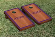 Alcorn State Braves Rosewood Stained Border Cornhole Game Set
