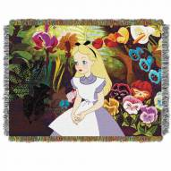 Alice in the Garden Throw Blanket