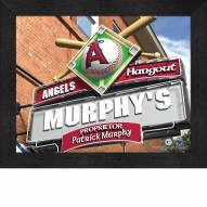 Anaheim Angels Personalized Framed Sports Pub Print