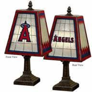 Los Angeles Angels of Anaheim MLB Hand-Painted Art Glass Table Lamp