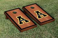 Appalachian State Mountaineers Rosewood Stained Border Cornhole Game Set