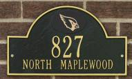 Arizona Cardinals NFL Personalized Address Plaque - Black Gold