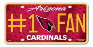 Arizona Cardinals #1 Fan License Plate