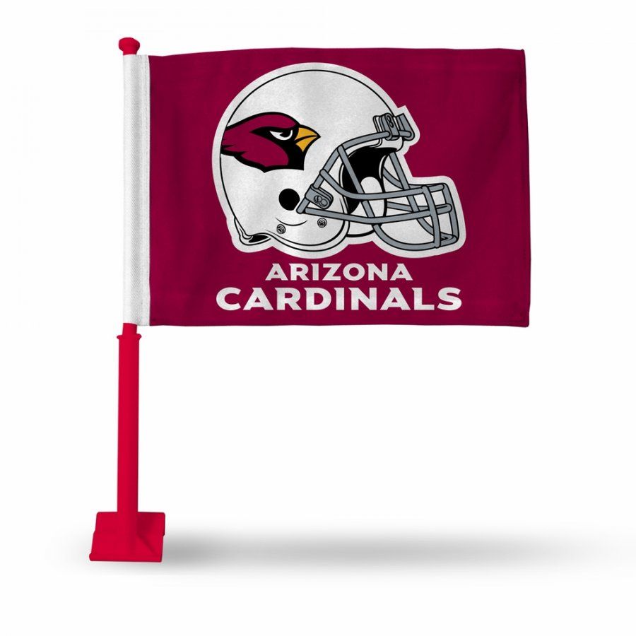 Arizona Cardinals Car Flag with Red Pole
