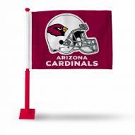 Arizona Cardinals Car Flag with Red Pole