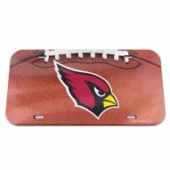 Arizona Cardinals Crystal Mirror License Plate
