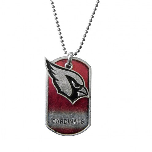 Arizona Cardinals Dog Tag Charm Necklace