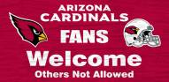 Arizona Cardinals Fans Welcome Wood Sign