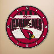 Arizona Cardinals NFL Stained Glass Wall Clock