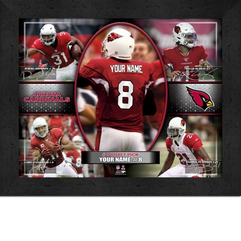 Arizona Cardinals Personalized Framed Action Collage