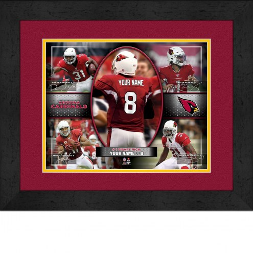 Arizona Cardinals Personalized 13 x 16 Framed Action Collage