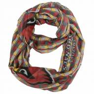 Arizona Cardinals Plaid Sheer Infinity Scarf