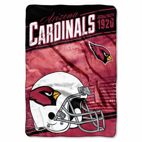 Arizona Cardinals Stagger Raschel Blanket