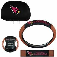 Arizona Cardinals Steering Wheel & Headrest Cover Set