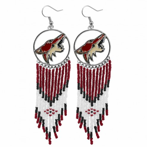 Arizona Coyotes Dreamcatcher Earrings
