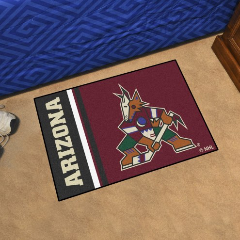Arizona Coyotes Uniform Inspired Starter Rug