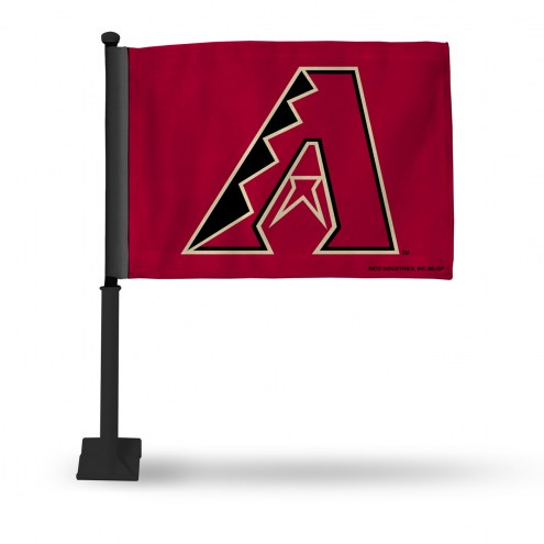 Arizona Diamondbacks Car Flag with Black Pole