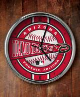 Arizona Diamondbacks Chrome Wall Clock