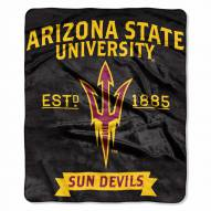 Arizona State Sun Devils Label Raschel Throw Blanket