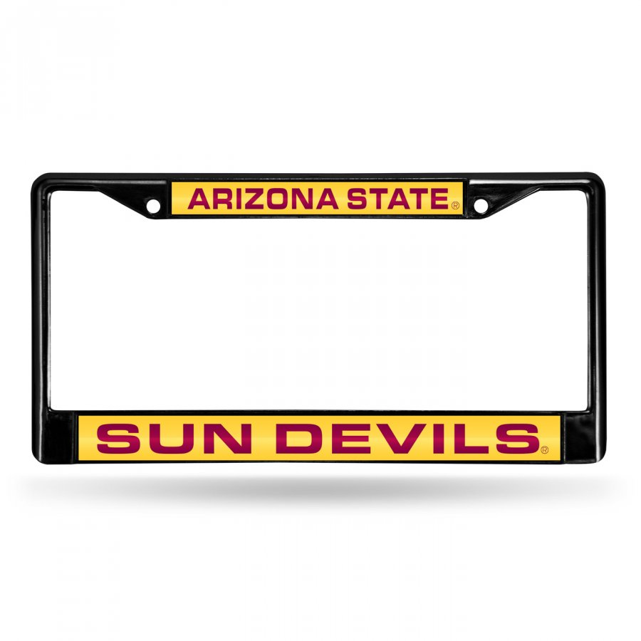 Arizona State Sun Devils Laser Black License Plate Frame