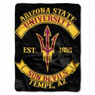 Arizona State Sun Devils Rebel Raschel Throw Blanket