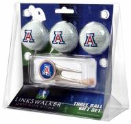 Arizona Wildcats Golf Ball Gift Pack with Cap Tool