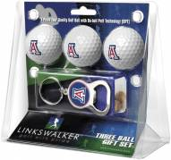 Arizona Wildcats Golf Ball Gift Pack with Key Chain