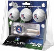 Arizona Wildcats Golf Ball Gift Pack with Kool Tool