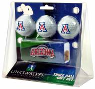 Arizona Wildcats Golf Ball Gift Pack with Slider Clip